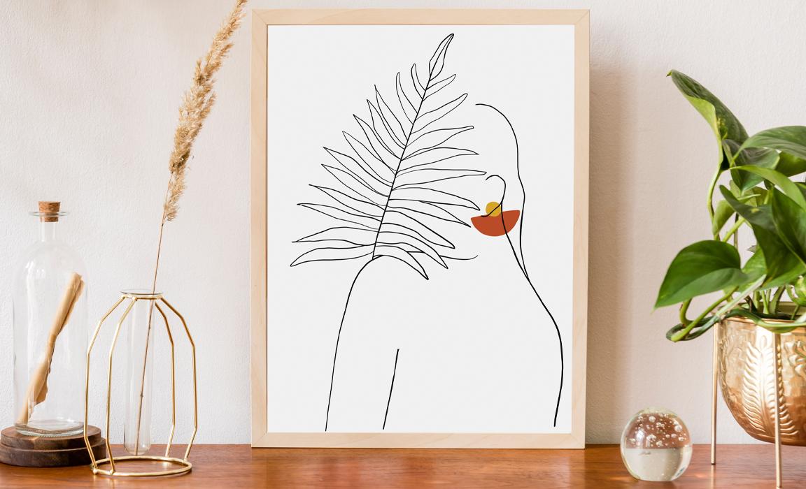 Plakat line art kobieta